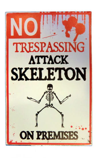 Warning Attackierendes skeleton