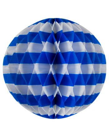 Wabenball weiß/blau 30 cm