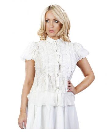 Burleska chiffon blouse white