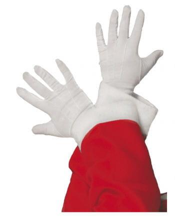 Handschuhe Weihnachtsmann weiß