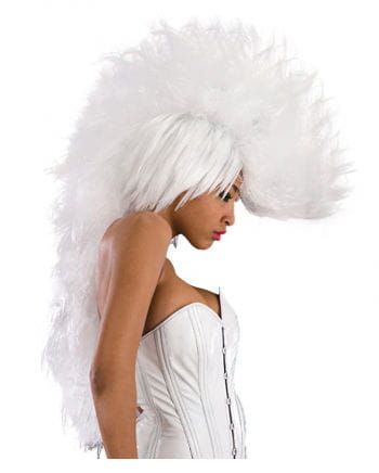 Long Punk Wig White