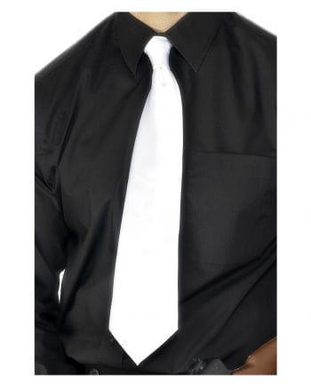 Satin Krawatte weiß