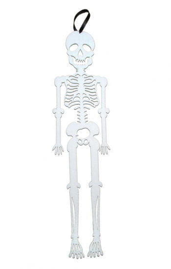 Hanging Skeleton Felt White