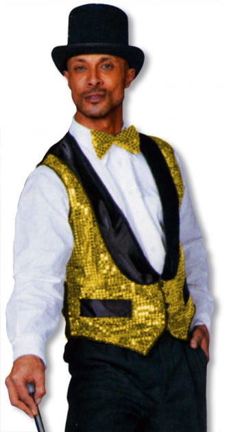 Waistcoat with Golden Sequins