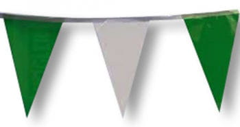 Pennant Garland Green/White