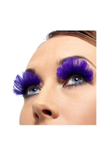 Feather eyelashes purple