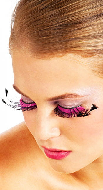 Eyelashes Black / Pink