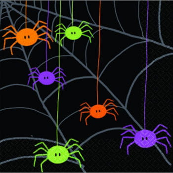 Funny spiders napkins