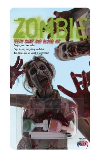 Zahnfarbe für Zombie-Zähne