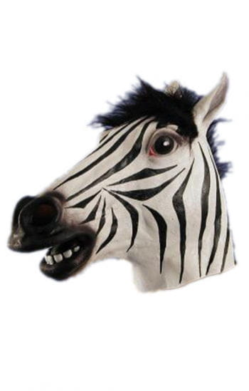 Zebra Latex Mask