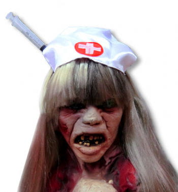 Zombie Krankenschwester Hut mit Spritze