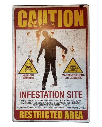 Zombie quarantine zone metal shield
