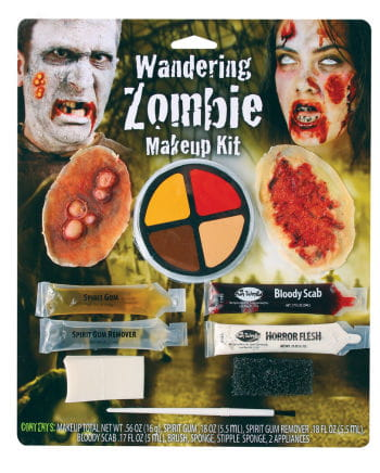 Zombie wounds makeup kit, 10 pieces