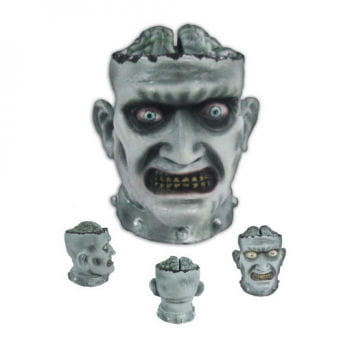 Zombie Head Candy Bowl Animatronic