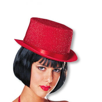 Red Top Hat with Glitter