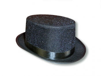 Black Top Hat with Glitter