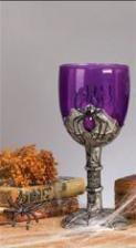 Spinnweben Weinglas lila
