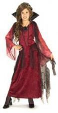 Gothic Vampire Lady Child Costume Large