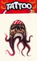 Piraten Tattoo Oktopus