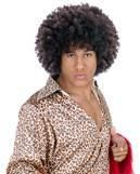 Disco Afro Wig Dark Brown