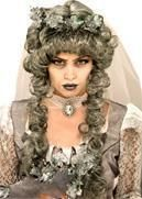 Death Princess curly wig gray