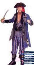 Pirate Captain Costume. XL