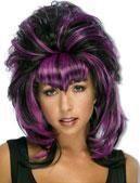 Cruelzella Perücke violett und schwarz
