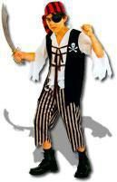 Pirate Captain Skully Child Costume L