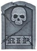 Grabstein Rip & Skull 40 cm