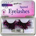 Feather eyelashes Pink polka dots