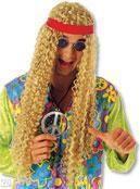 Longhair hippie wig blond