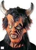Devil Mask with Black Hair