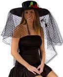 Black Widow Hat with Veil