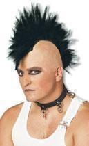 Mohawk Punk Wig Black