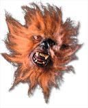 Werewolf half mask brown