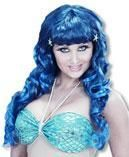 Mermaids wig blue