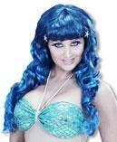 Meerjungfrauen Perücke blau