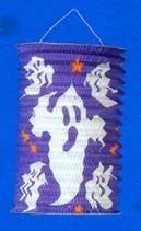 Laterne / Lampion mit Gespenstern 20 cm lila