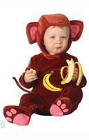 Infant Monkey Jumpsuit Costume