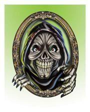 Portable mural skeleton monsters