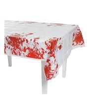 Bloodspattered tablecloth