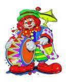Clown musician wall decoration