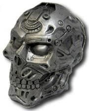 Cyberskull made of Polyresin