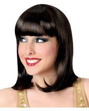 Showgirl Wig with Fringe Brown