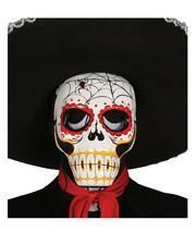 Day of the Dead Maske mit Spinnenmotiv