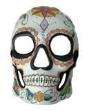 Day of the Dead Skull Mask Flower