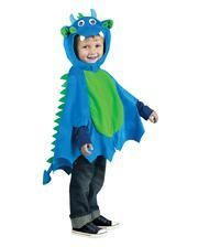 Dragon Cloak with cap blue-green