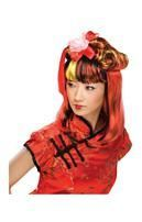 Dragon Lady Perücke schwarz-rot
