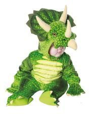 Three Horn Dino children costume Green XL