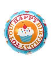 Folienballon Happy Birthday Cupcake
